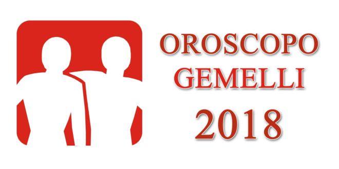 Oroscopo Gemelli 2018