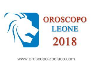 Oroscopo Leone 2018