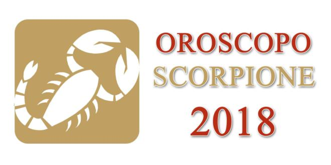 Oroscopo Scorpione 2018