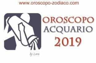 Oroscopo 2019 Acquario