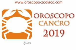 Oroscopo 2019 Cancro