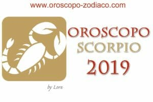Oroscopo 2019 Scorpione
