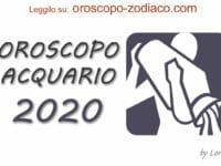 Oroscopo 2020 Acquario