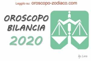 Oroscopo 2020 Bilancia