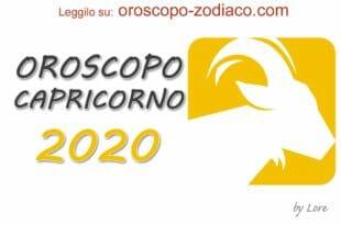 Oroscopo 2020 Capricorno