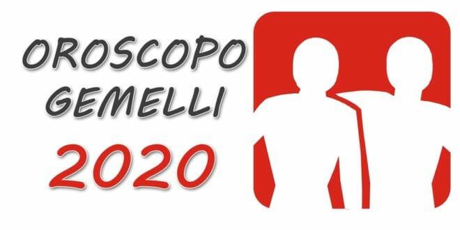 Oroscopo 2020 Gemelli