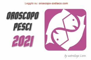 Oroscopo 2021 Pesci