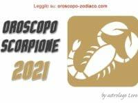 Oroscopo 2021 Scorpione